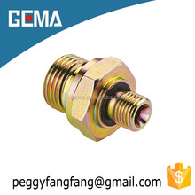 1BN Carbon steel good quality bsp Male Double connections manufacturer / NPTF MALE ADAPTER/ straight hydraulic fittings