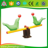 Outdoor playground seesaw play equipment ,horse seesaw JMQ-P168C