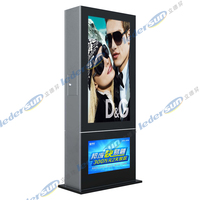 55/66/76/87inch wireless 3G led bus media digital advertising player with android system