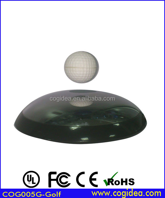 Stainless steel mirror Levitating Levitron ion Revolution Platform With EZ Float Technology floating LED display stands