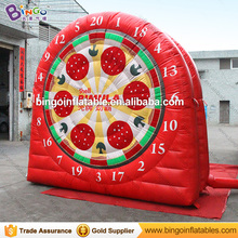 New design giant inflatable velcro dart board game with balls