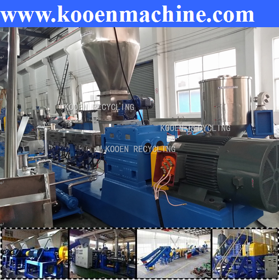pe pp film plastic washing machine and double stage granulation line