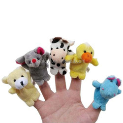 2014 Hot Sale Animal Style Finger Puppets Set