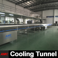 Specifically Designs Quick Changeover tumbler Cooling Tunnel Machine For Production Line