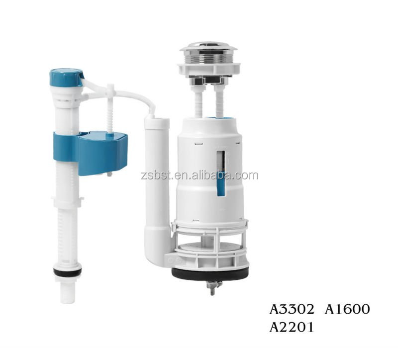 Super outlet toilet fill valve flush fittings (A1600+A3302+A2201)
