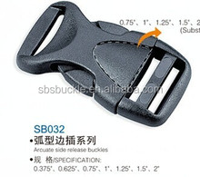 SBS fujian manufacture high quality plastic side release buckle for bag