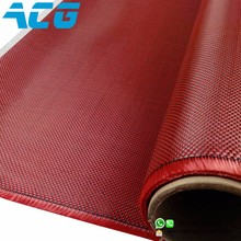 3K 200g carbon fiber Hybrid Red kevlar fabric Cloth