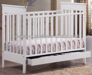 baby crib with drawer , wooden baby crib , nursery baby furniture
