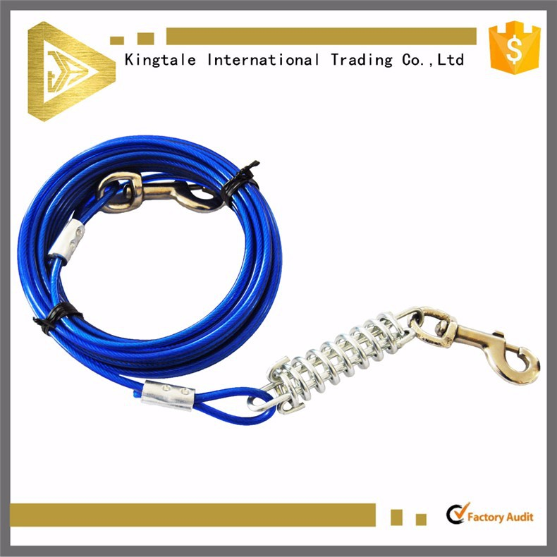Kingtale High Strength Dog Tie Out Cable With Two Snap Hook