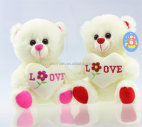Popular toys with heart shaped pillow stuffed valentine day teddy bear