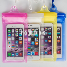 Clear PVC waterproof Wallet Pouch dive cellphone case for iphone5/5s/6/6s/6splus