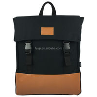 fashion PU canvas backpack outfit for everyday