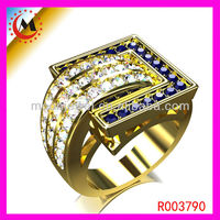 2013 TURKEY OTTOMAN JEWELRY RINGS WITH GOLD PLATED