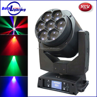 Guangzhou professional stage 7x15W Bee Eye Zoom RGBW 4in1 LED Moving Head Mini Beam Light disco lighting
