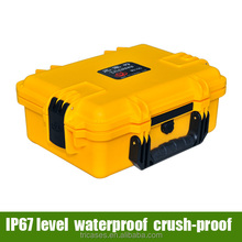 China factory Tricases waterproof sturdy plastic pelicase style gear tool box with foams