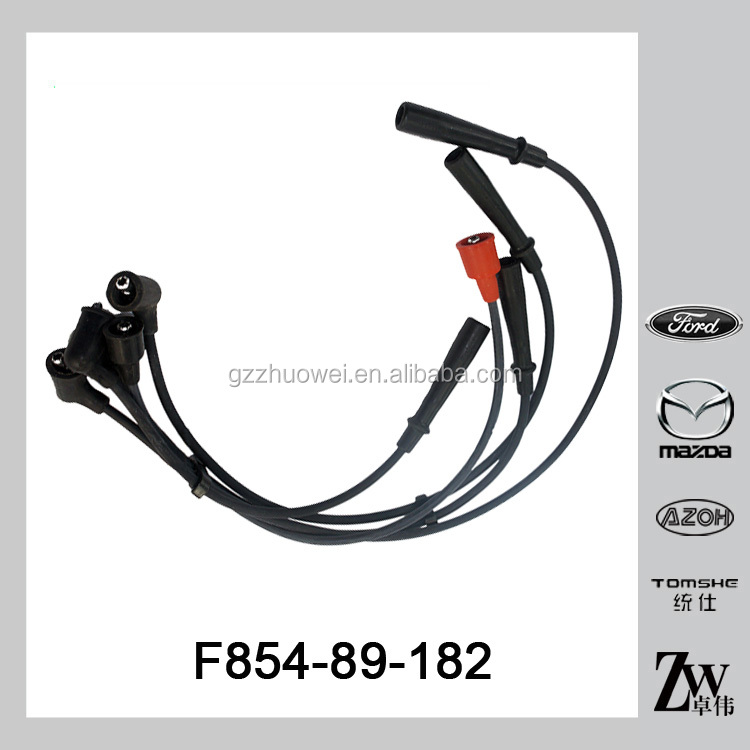 Auto electric parts ignition cable set spark plug wire for Mazda B2000 FE OE.F854-89-182