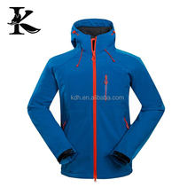Drop shopping men hiking jacket softshell jacket print logo with hood