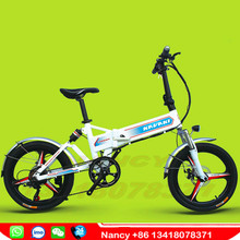 "250W 48V8A lithium battery E-bike ZC20 with shock absorber multifunction panel 21speed 20""stand folding electric bicycle"