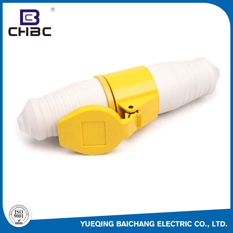 CHBC 3 Pin Yellow Coloured 110 Volt Electrical Industrial Plugs And Sockets
