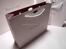 round handle simple paper shopping bag with logo