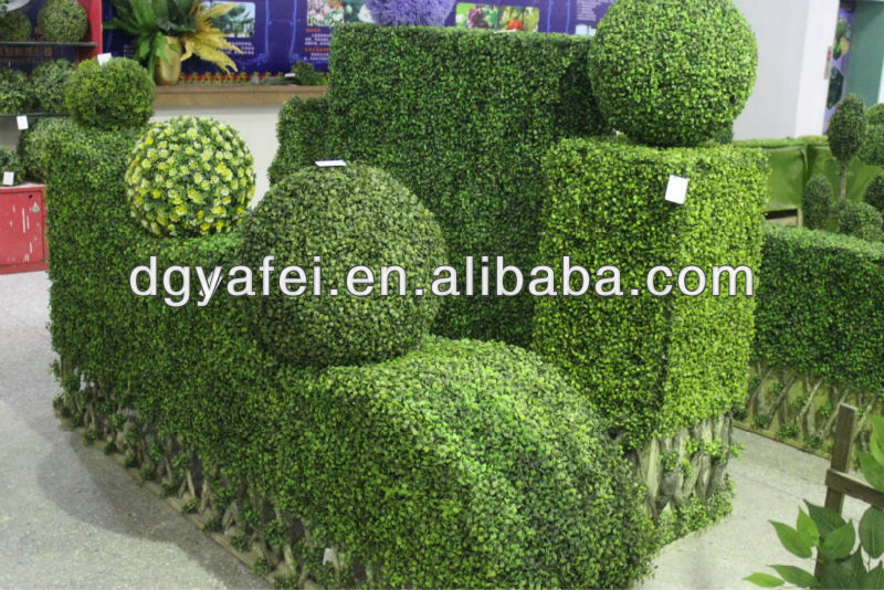 Hot sell artificial grass topiary plant ball pleasing artificial plastic boxwood hedge