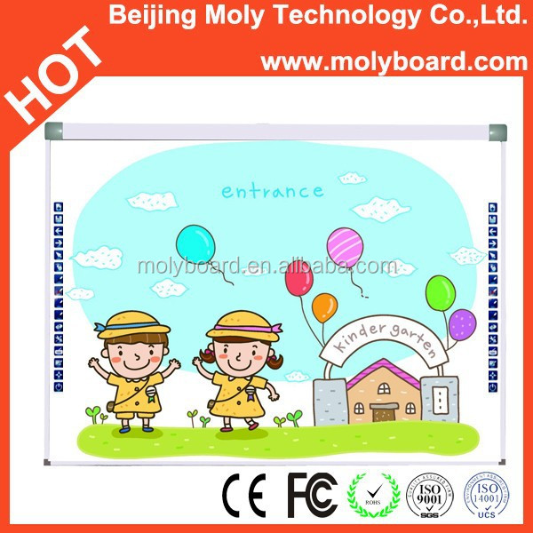 "83"" inch two users writing trace board interactive whiteboard for school"
