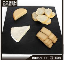 Hotel Supplies Black Stone Slate Cheese Plate