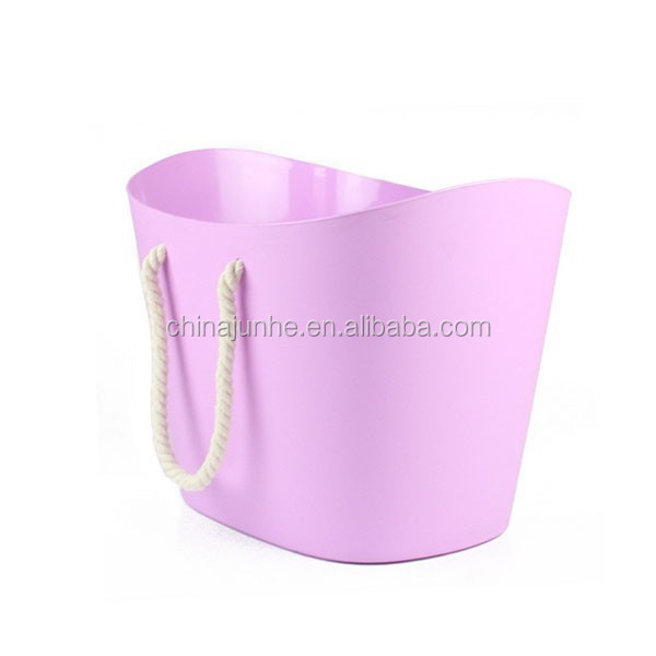 Eco-friendly Five Color PP Dirty Cloths Barrel with Belt