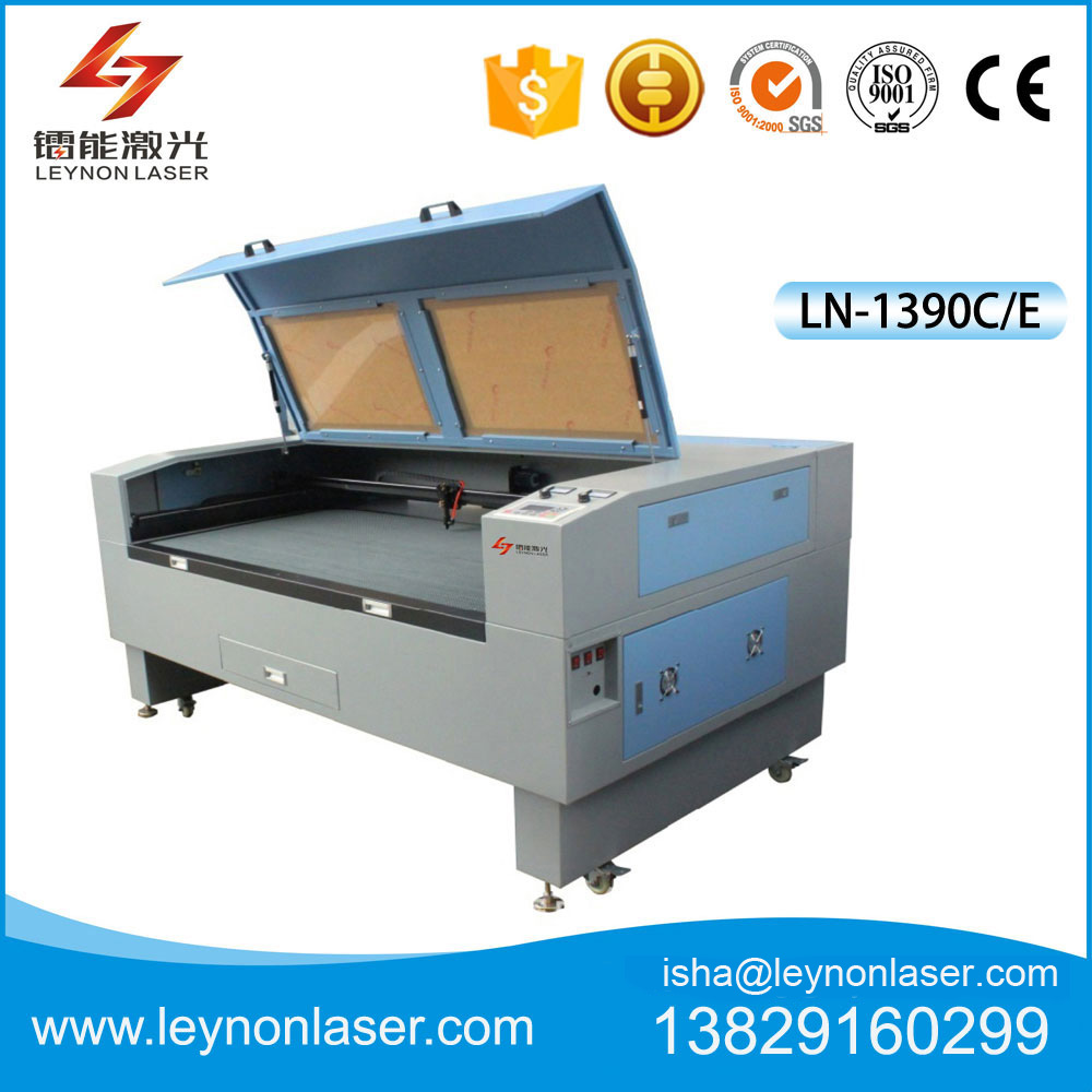 Unique fabric, leather laser cutting machines cut white fabric without burnt edges by Dongguan Automation Co., Ltd.
