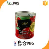canned tomato paste with HALAL na d KOSHER certificates ,produced by factory