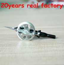 Outdoor Archery New Products 4blades Hunting 100 Grain Wheel Broadheads Hunting Arrow Tip