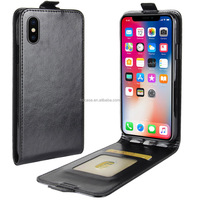 In stock 4 colors available from UP to Down Open Crazy horse pattern Vintage Business wallet case for iphone x