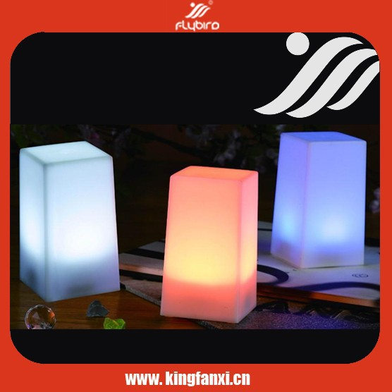 7 color change square night light table lamps