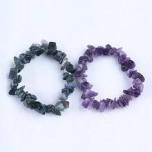 Fashion Colorful Amethyst and Agate Bracelet