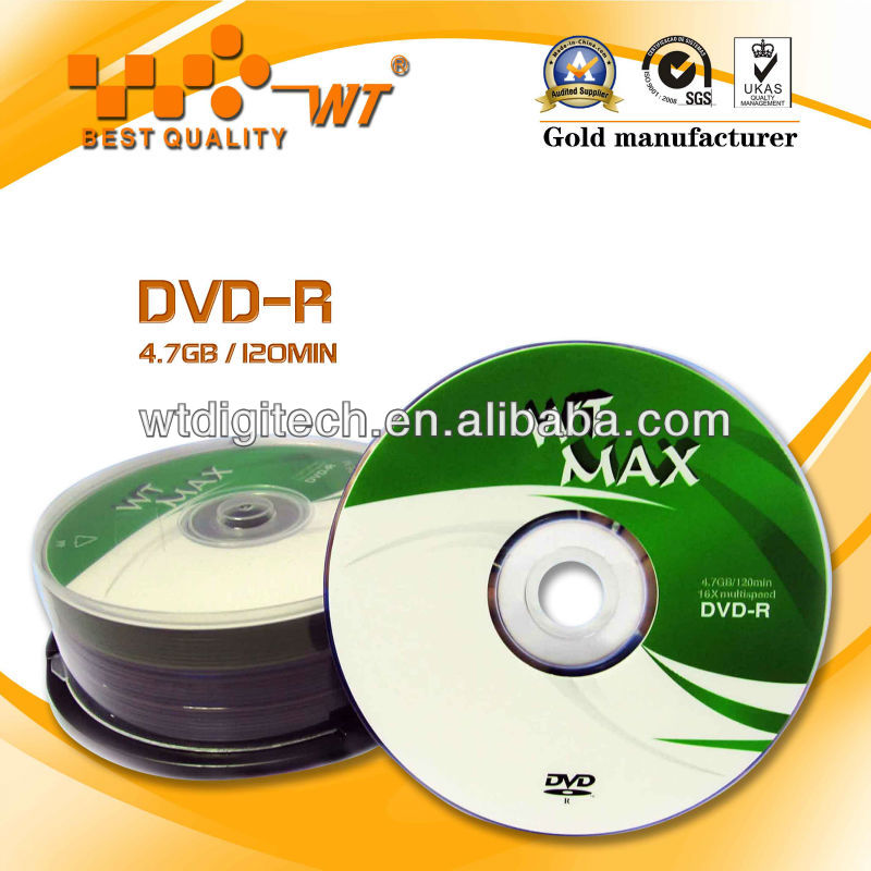 Recordable Blank DVD-R Media 4.7GB 120min 16X Reliable Performance