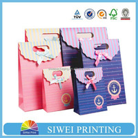 2015 custom luxury printed food grade recycled Spring strawberry gift paper bag newest for Birthday