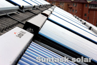 Suntask solar energy hotel hot water supplying project