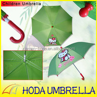 Lovely Hello Kitty Printing Safe Children Umbrella with Chrome-coated Metal Frame For Kids' Gifts Mini Kids Rain Umbrella