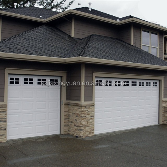 Sectional Garage Doors Product : Residential steel sectional automatic garage door window