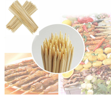 Eco-friendly disposable round bamboo BBQ Sticks barbecue skewer