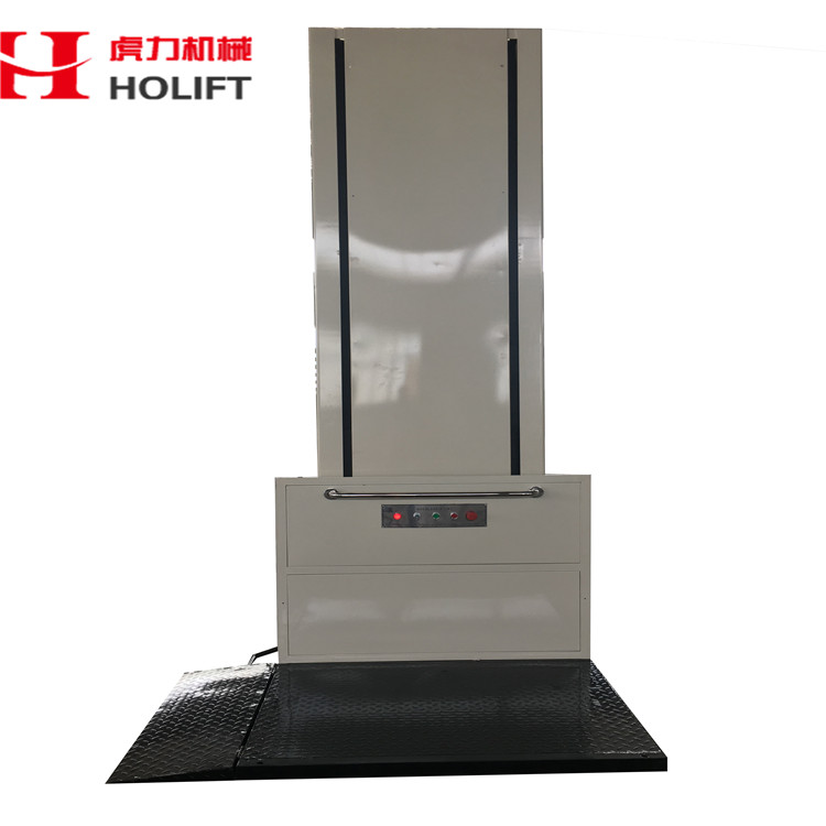 vertical electric hydraulic guide rail goods lift
