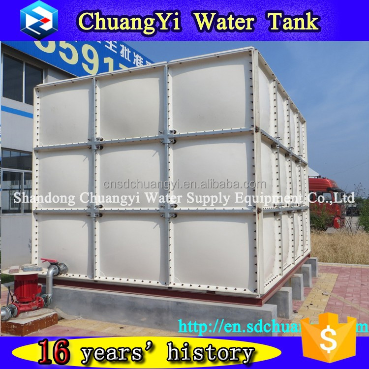 Hot sale company 20m3 plastic water storage tank,fiberglass fire protection water tank,smc frp grp water 10000 litre tank