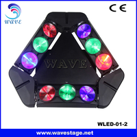 WLED 1-2 New 9 pcs 4 IN 1 RGBW 10W LED linear dmx spider moving dj equipment led lighting
