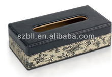 Retangular Tissue box for car/ faux leather tissue box