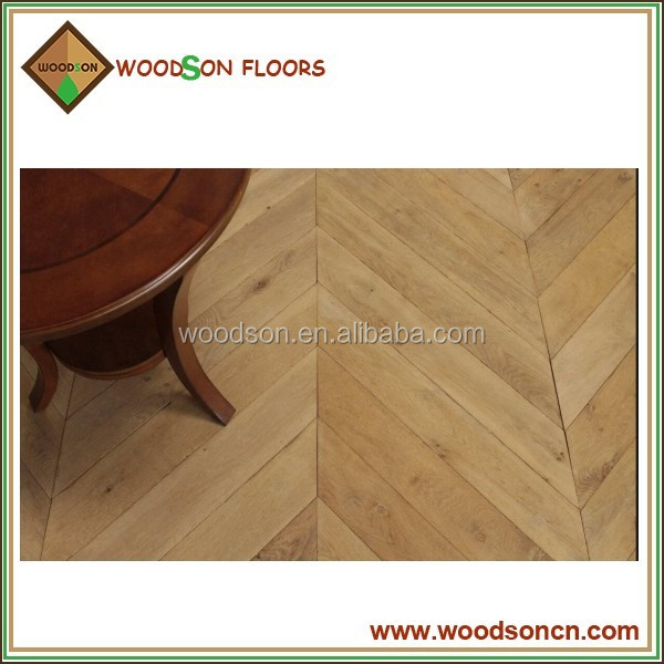 Home Use Rustic Natural Fish Bone Solid Oak Flooring