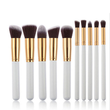 Shipping Free Ilobe Mini <strong>brush</strong> 10Pcs Cosmetic Make up <strong>Brushes</strong> Face Powder Blusher Foundation Kabuki Set