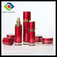 Skin Care Cream Use and Plastic Material acrylic red round lotion bottle