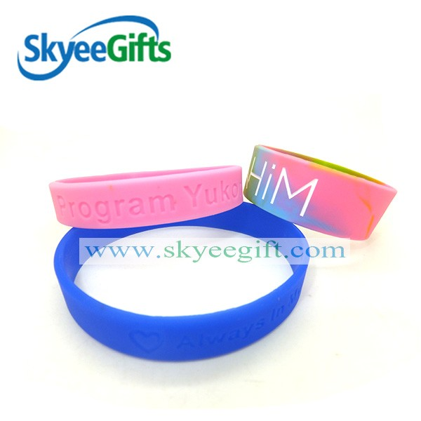 HOT silicone wrist bands/personalized silicone bracelet/silicone rubber bracelet wristbands football tennis