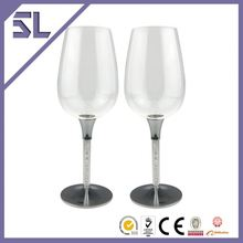 Wholesales Champagne Glass Polished Silver Plated Love Theme Elegant Glasses Set For Sale