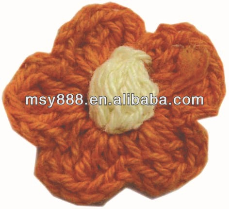 Wholesale handmade crochet flower corsage for hats